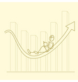 sketchy businessman on graph vector image vector image
