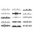 sound waves collection analog and digital audio vector image vector image