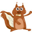 squirrel with nut cartoon vector image vector image