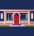 store window shop building glass luxury facade vector image vector image