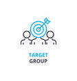 target group concept outline icon linear sign vector image vector image