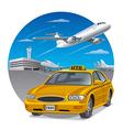 taxi sedan car vector image vector image
