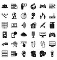 television network icons set simple style vector image vector image