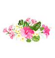 tropical flower garland for your card design vector image vector image
