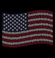 waving united states flag stylization of globe vector image vector image