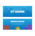 welcome to city aquarium banner template vector image vector image