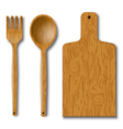 wood utensils vector image vector image