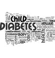 a serious health problem of obese child text word vector image vector image