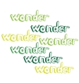 Art hand drawn text wonder vector image