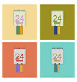 assembly flat icons calendar ukraines independence vector image