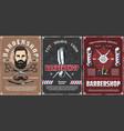 beard shave men hairdresser haircut barber shop vector image vector image