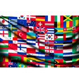 Big flag background made of world country flags vector image vector image