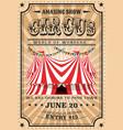 bit top circus tent vintage funfair show vector image