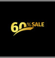 black banner discount purchase 60 percent sale vector image