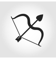 black cupid bow icon vector image