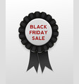 black friday sale ribbon award badge on background vector image