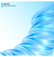 Blue shining wave abstract background vector image