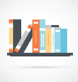 Bookshelf with books - simple icon vector image vector image