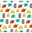 bright kids pattern with cute geometric animals vector image
