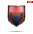 Bright shield in the boxing helmet inside vector image vector image
