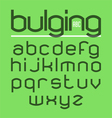 Bulging typeface alphabet vector image vector image