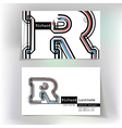 Business card design with letter R vector image vector image