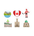 canada traditional cultural symbols and vector image vector image