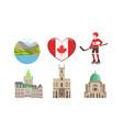 canada traditional cultural symbols vector image