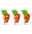 Cartoon orange funny carrot set vector image vector image