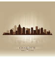 Charlotte North Carolina skyline city silhouette vector image vector image