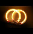 circular neon lamp vector image