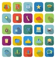 Communication color icons with long shadow vector image vector image