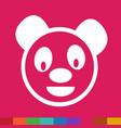 cute panda emotion icon sign design vector image
