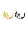ears of wheat icons vector image