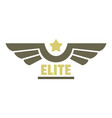 elite air force icon logo flat style vector image vector image