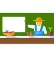 farmer shows on board vector image