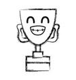 figure kawaii cute funny prize cup vector image vector image