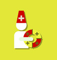 flat icon design collection doctor with lifebuoy vector image vector image
