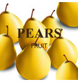 fresh pears realistic vector image vector image