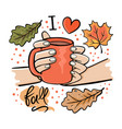 girl holding mug hot chocolate vector image vector image