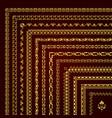 golden decorative corner borders and frames vector image vector image