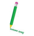 green pencil and save nature word vector image