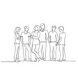 group young teenagers standing with teachers vector image