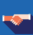 handshake partnership successful business concept vector image
