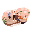 happy family spending time together at home vector image vector image