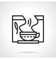 Healing herbal tea black line icon vector image