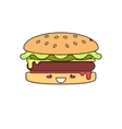 Hot Burger vector image