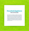 household appliance paper template vector image vector image