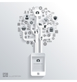 Icon tree Flat abstract background with web icons vector image