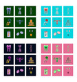 icons set in flat style human organs cell vector image vector image